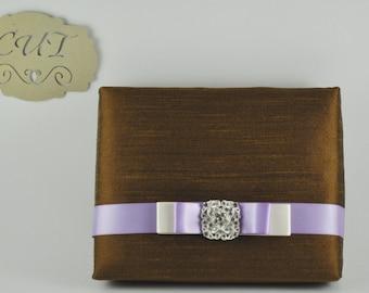Couture, Chocolate Dupioni Silk, Boxed Wedding & Event Invitation