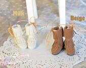 bjd doll dal girl shoes - Ribbon Boot 2 colors ( Lati FL blythe )