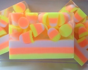 Candy Corn Soap - halloween soap, fall soap