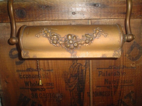 Antique Over The Bed Headboard Reading Lamp