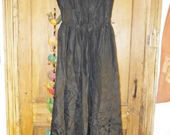 Laura Ashley taffeta evening dress 1980's