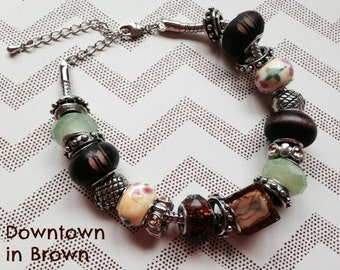 The Downtown in Brown Bracelet, jewelry, stones, beads, bling, gift, present, mother, daughter, wife, sister, aunt, grandmother, brown