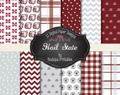 Hail State - Mississippi State digital papers - 12x12 and 8.5x11 300 dpi
