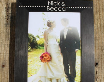 Personalized Wedding Picture Frame, Custom Wedding Picture Frame, Personalized Picture Frame, Custom Picture Frame, picture frame --7109