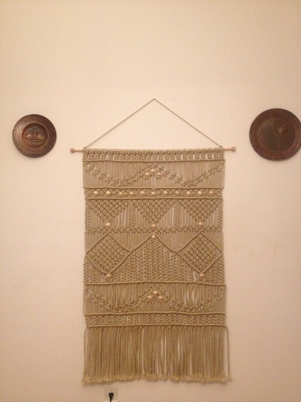 t te de lit macrame tenture murale d coration de la maison de. Black Bedroom Furniture Sets. Home Design Ideas