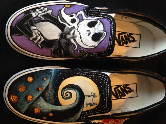 Disney's Nightmare Before Christmas Hand painted Vans