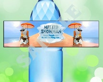 Olaf in Summer Water Bottle Tag