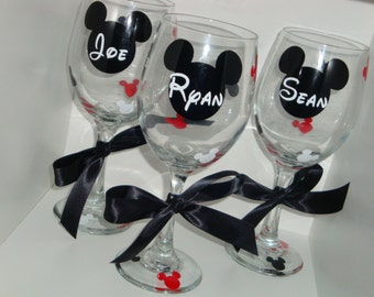 Personalized 20 oz wine glass