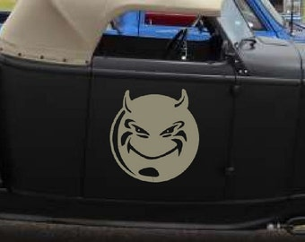 Devil Smile Decal sticker demon wall art car graphics room decor twighlight blood emo goth gothic metal AA53