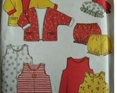 Toddler Jacket, Dress and Romper, Panties and Cap sizes 1/2-1-2-3-4 New Look for Kids by Simplicity Pattern 6880 2002