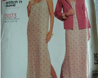 Misses Miss Petite Unlined Jacket and Dress Sizes 10-12-14-16 EASY Stitch 'n Save by McCalls UNCUT pattern 2001