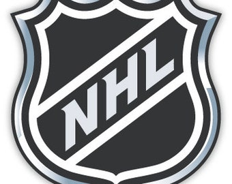 "National Hockey League NHL sticker decal 4"" x 4"""