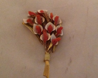 Brooch Calla Lily 60s 70s made in USA
