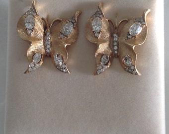 Butterfly earrings Trifari