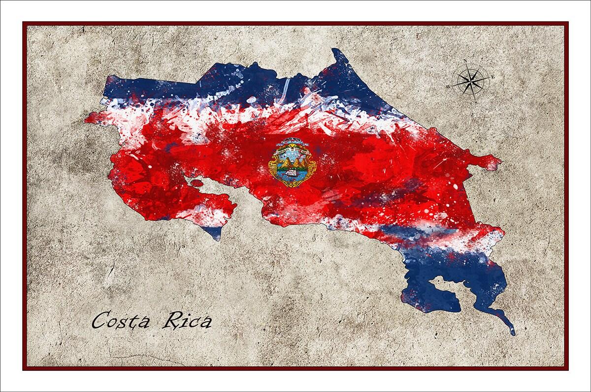 costa rica map costa rica map of costa rica costa rica flag