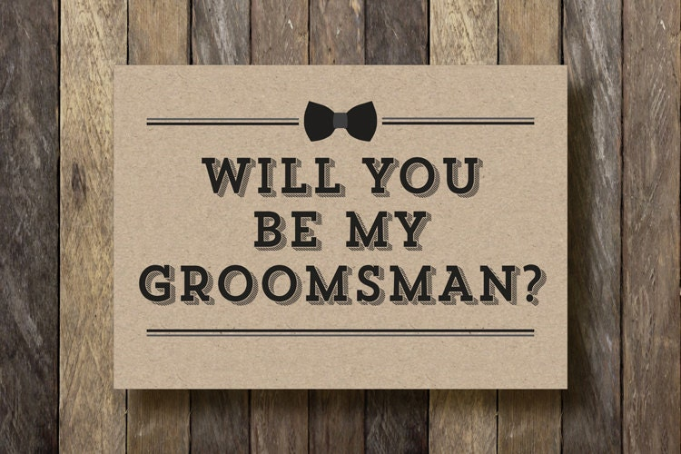 Smart image in will you be my groomsman printable