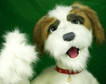 "Custom Made Professional Dog Puppet / muppet ""Chester"" Live Hands full body"
