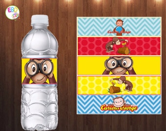 Curious George Water Bottle Labels