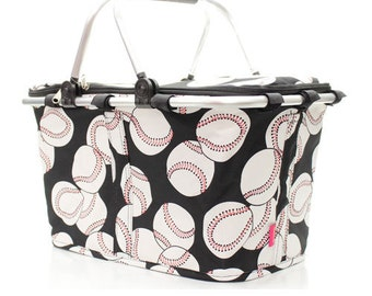 Baseball Insulated Market Tote  with free monogram