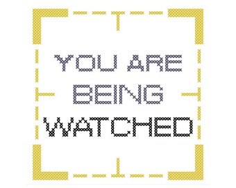 WATCHED Cross-Stitch Pattern (Instant Download PDF)