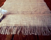 72 Inch Burlap Table Runner With Fringe Edging Burlap Rose and Lace Tan Color 72 - EverythingDawnHome
