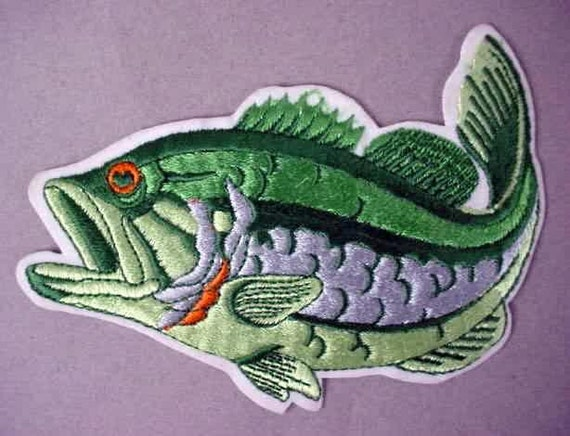 Large mouth bass figural big and colorful jacket or shirt for Good bass fishing spots near me