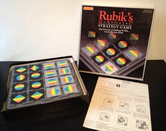 Rubik's Magic by Matchbox 1987 - Vintage 1980s Strategy Game - Complete Like New