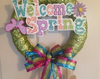 Spring Wreath. 16 inches