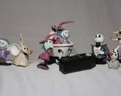 Nightmare Before Christmas JACK SKELLINGTON Sally 1990s Toy Lot Coffin
