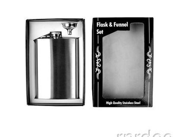 Flask & Funnel boxed Set with Free Engraving