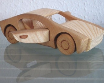 Race car sport car sports car wooden car wood car model car very rare handmade