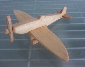 Spitfire airplane flier vintage wood handmade