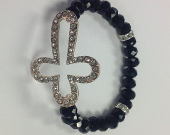 Hollow Cross Rhinestone Bracelet