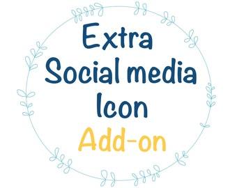 Extra social media icon in wordpress template, custom wordpress theme