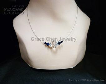 Big Stone Necklace of Swarovski Unique Designed