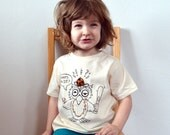 """Owl """"Who's On First"""" Toddler Tee: 100% organic cotton with screenprint, embroidery and appliqué"""