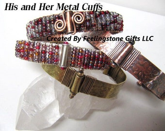 Holiday Sale 40% off/His and Hers Metal Cuff PDF Tutorial/Free Gift Tutorial, Metal Work, Wire Wrapping, Metal, Beads,