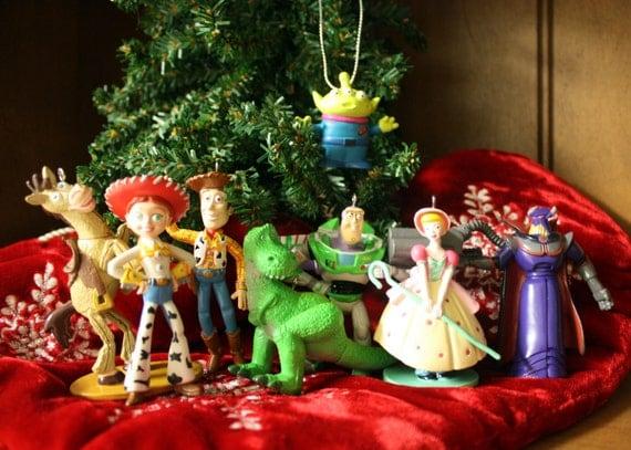 Toy Story Christmas : Toy story disney christmas ornament set woody buzz jessie