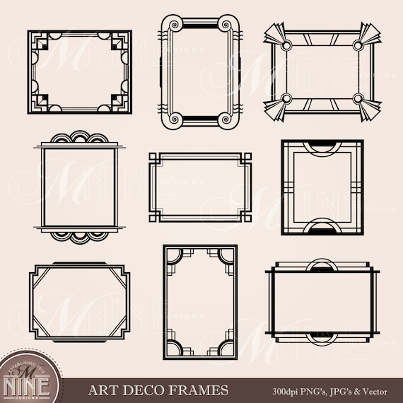 art deco frame clip art art deco clipart frames design elements antique borders clipart black