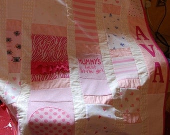 I make handmade heirloom quilts from your little ones babygrows or clothes.