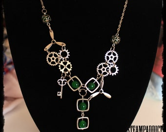 "Collier ""SteampAttitude4 "" Somptueux Collier Steampunk"