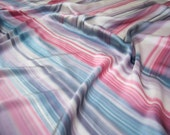 Hand painted silk satin stripes. Coupon 105 cm x 140 cm - DorSilk