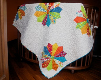 """Baby quilt """"flower meadow"""""""