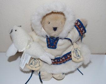 Muffy Vanderbear of the North Eskimo Teddy Bear with Seal 1994