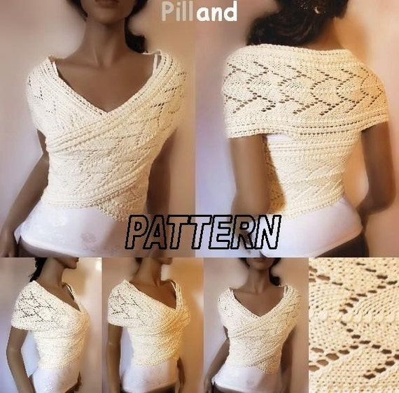 Ladies Cardigan Vest Knitting Pattern : Knitting Pattern Lace Knit sweater Womens vest PDF Instant