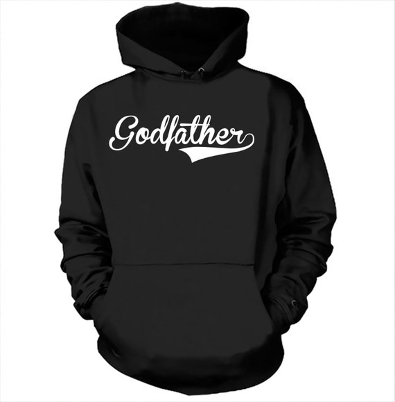 Godfather Hoodie Gift For Godfather Baptism Hooded Sweatshirt l7mrKCXHZ