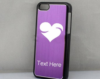 Personalized engaved Custom Hearts  Iphone Case iPhone 5 or 5c Cell Phone Case
