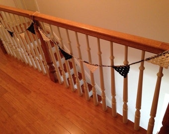Let's Have a Party!  (Black & White - Penant Bunting - Garland)