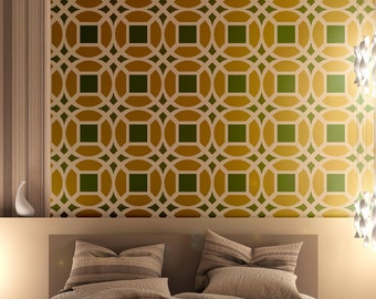 Wall Moroccan Stencil Lesley Large size, for DIY decor Furniture Painting