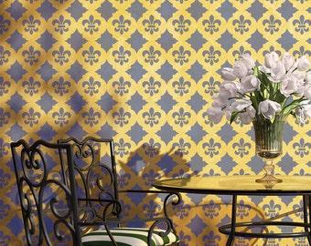 Tiziana Trellis Allover Wall Stencil Designs for home Wall decor
